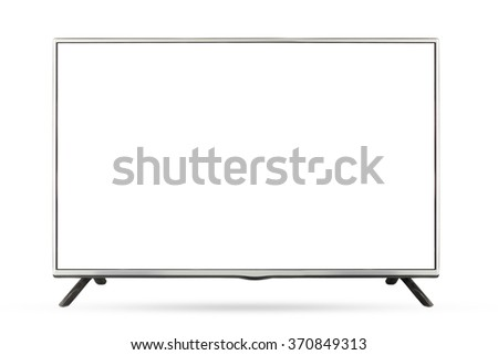 New design TV or monitor landscape isolated on white background, use clipping path - stock photo
