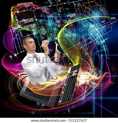 New designing engineering technologies - stock photo