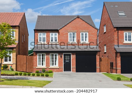 New detached houses - stock photo