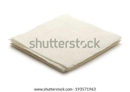 New disposable paper table napkins - stock photo