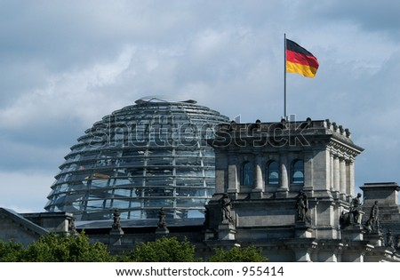 New dome of the Reichstag in Berlin, Germany - stock photo