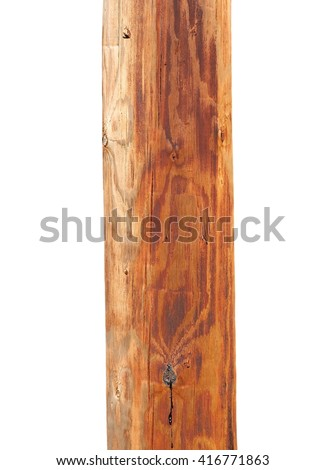 new dry telegraph pole isolated on white background - stock photo