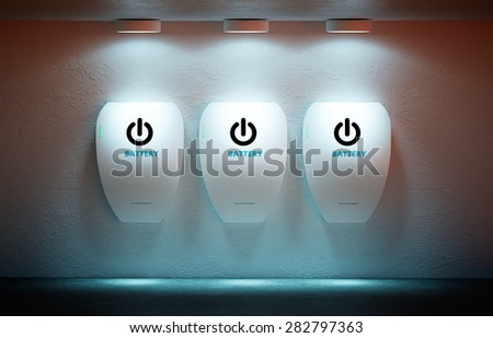 New energy concept - personal home battery. - stock photo