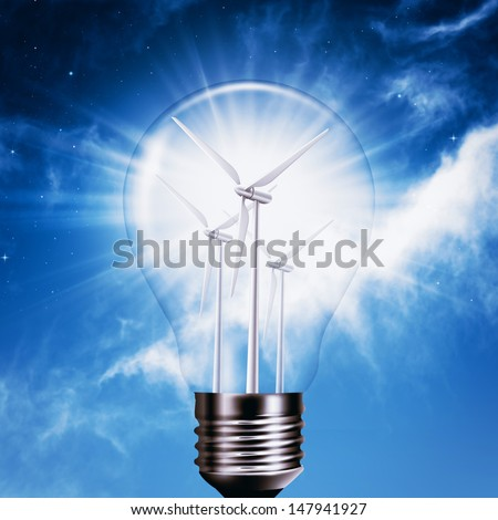 New Energy Generation. Abstract environmental backgrounds - stock photo