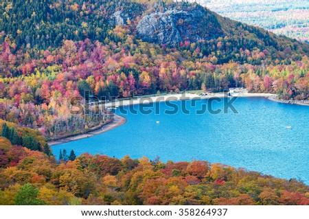New England autumn foliage. - stock photo