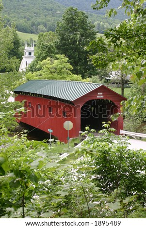 New England Covered Bridge - stock photo