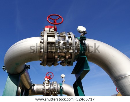 new equipment at power plant - stock photo