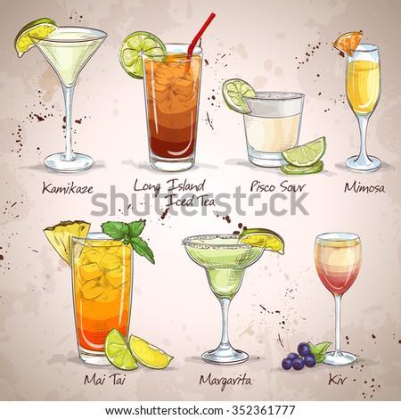 New Era Drinks Cocktail Set - stock photo