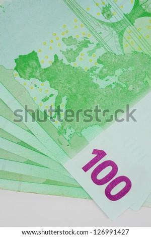 New euro banknotes - stock photo