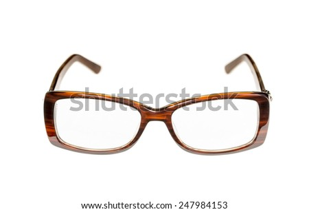 New fashionable glasses. Isolated on a white background. - stock photo