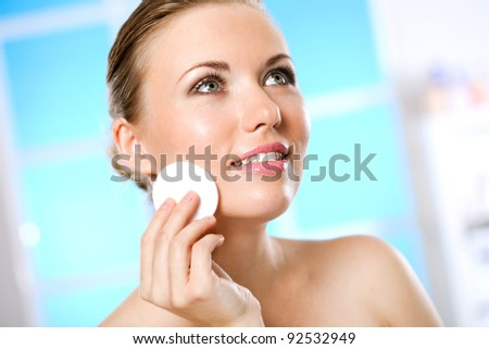 new fashionable way to face - stock photo