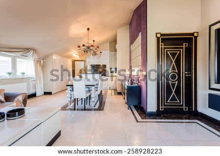 New furnished interior ready to move in - stock photo