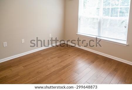 New Hardwood floor in new home - stock photo