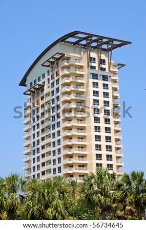 New Highrise Condos on the Florida Coast - stock photo