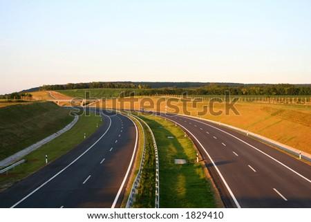 New Highway - stock photo