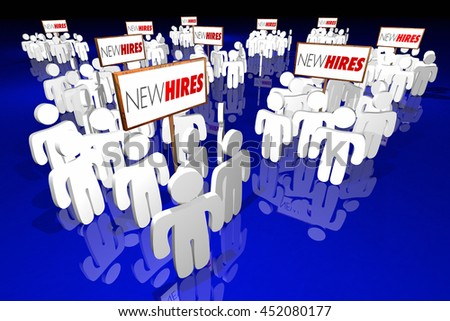 New Hires Employees Rookies Workers Staff Recruits 3d Illustration - stock photo
