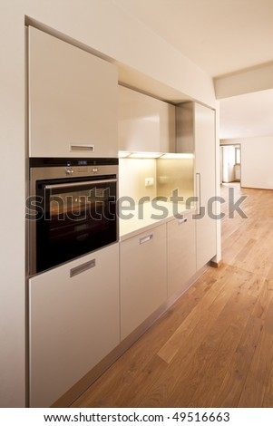 new home architecture  house kitchen - stock photo