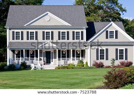 new home construction - stock photo