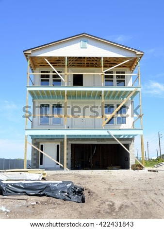 New Home Construction at Florida. USA for sale - stock photo