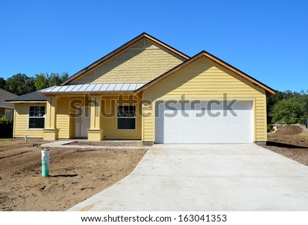 New home construction on the east coast of Florida, USA. - stock photo