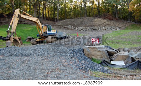 New Home construction site for sale by owner - stock photo