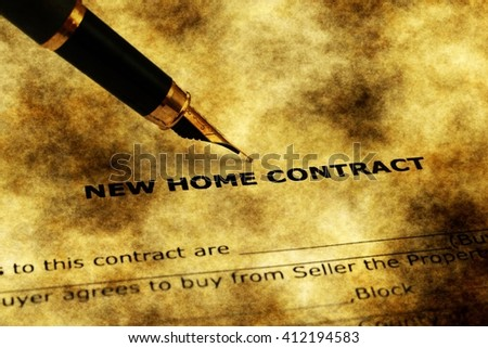 New home contract form grunge concept - stock photo