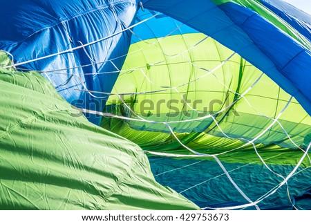 new hot air balloon - photo - stock photo
