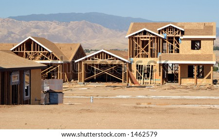 New house construction. - stock photo