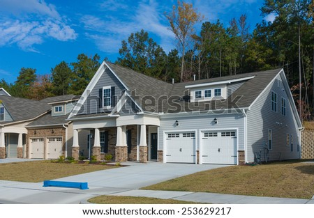 New house is ready for sale - stock photo