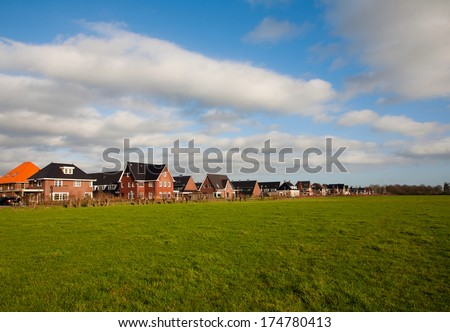 New houses  - stock photo