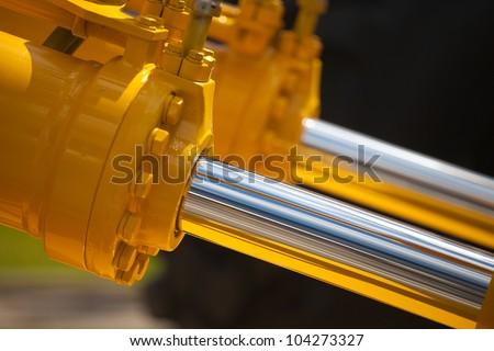 New hydraulic pistons - stock photo