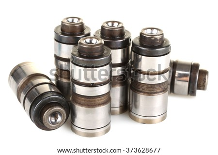 new iron lifters for cars on a white isolated background - stock photo