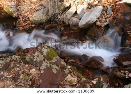 New Jersey's Worthington State Park Waterfall - stock photo