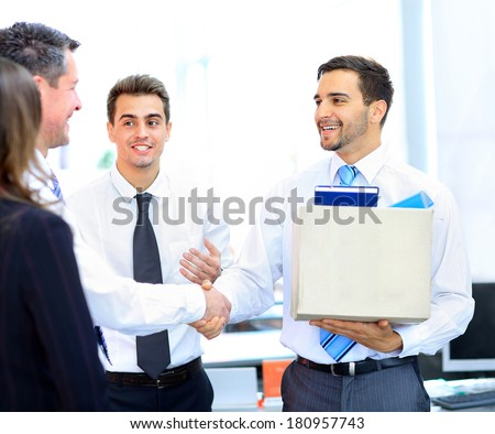 New job - stock photo