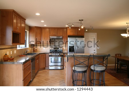 New kitchen remodel - stock photo