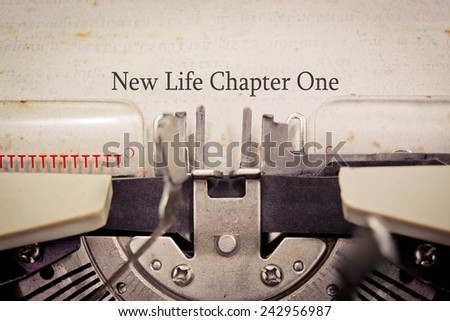 New Life Chapter One - stock photo