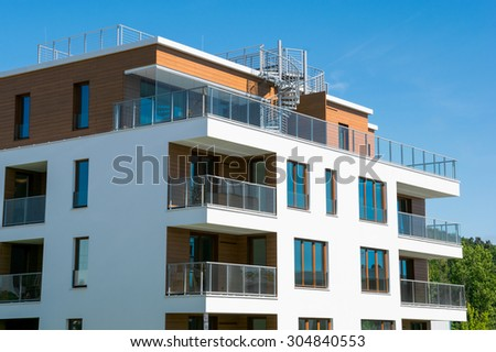 new luxury apartment  - stock photo