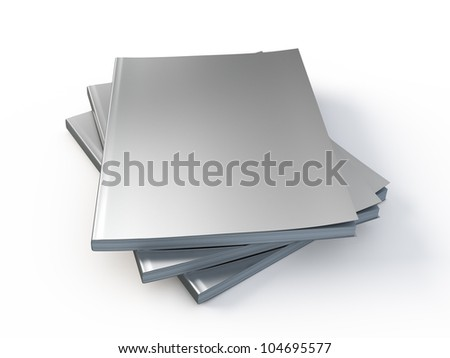 New Magazines with blank cover template - stock photo