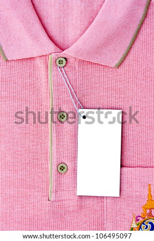 New men's Polo T-shirt and blank label - stock photo