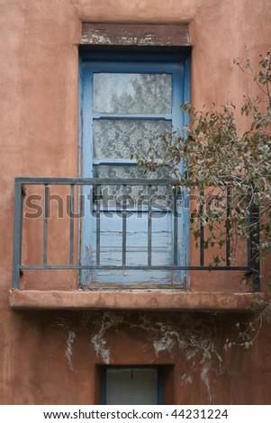 New Mexico Balcony - stock photo