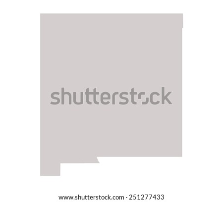 New Mexico State map isolated on a white background, USA. - stock photo
