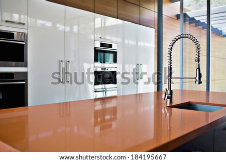 New modern kitchen - stock photo