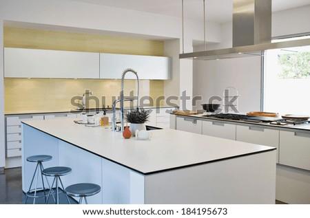 New modern kitchen - stock photo