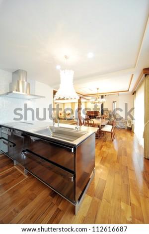 New modern kitchen interior 1-1 - stock photo
