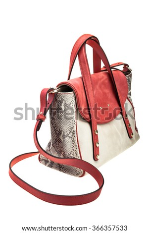 New modern womens bag isolated on white background. - stock photo