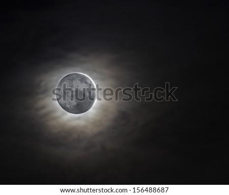 New moon - stock photo
