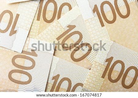 New one hundred dollar bill background  - stock photo
