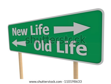 New or old life - stock photo