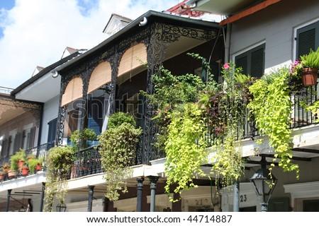 New Orleans balconies - stock photo