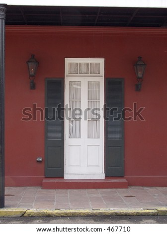 New Orleans entrance way - stock photo